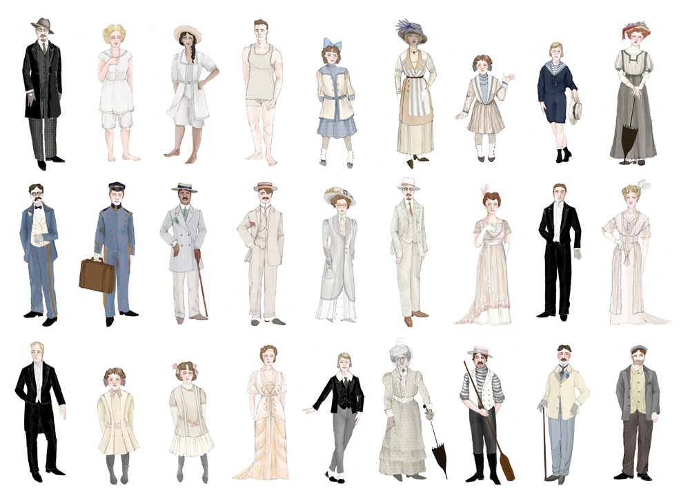 designs for Death in Venice, an opera by Benjamin Britten and Myfawnwy Piper